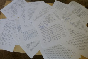 Part of the revision process...