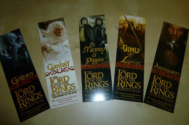 Lord of the Rings Bookmarks (4)
