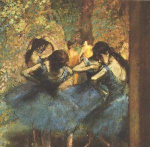 611px-Degas_-_Tänzerinnen_in_blau