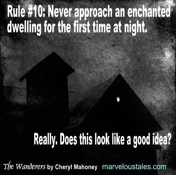 Enchanted dwelling at night